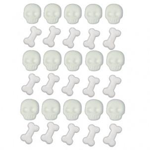 Esqueletinho Cód.646 (Pacote c/ 30 pçs. Med.1cm x 1cm)