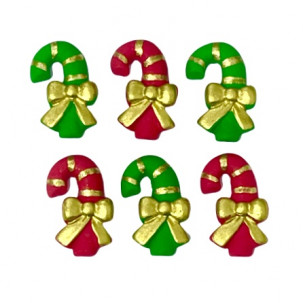 Natal Bengala G Cód.640 (Pct c/ 5 pçs. Med. 1,5cm x 2,5cm)