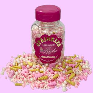 Sprinkles Premium Unicorn Rosa Cód.P551 (Pote c/ 100g)