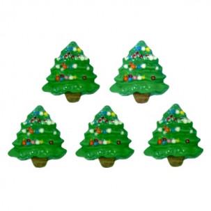 Natal Árvore G Cód.639 (Pct c/ 5 pçs. Med. 2cm x 2,5cm)
