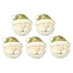 Natal Papai Noel Gold Cód.642 (Pct c/ 5 pçs. Med. 2,5cm x 2,5cm)