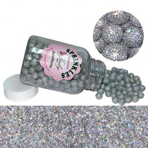 Sprinkles Premium Glow Prata HOLOGRÁFICO Cód.P543PH (Pote c/ 100g)