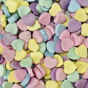 Mini Coração Candy Color Cód.263 (Pacote c/ 15g. Medidas 1cm)