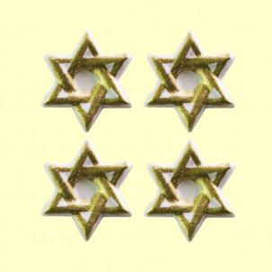 Estrela de Davi Cód.422 (Pacote c/ 4 pçs. Medida 3cm x 3cm)