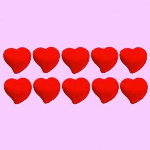 Coração Cód.019 (Pacote c/ 10 pçs. medidas 2cm x 2cm)