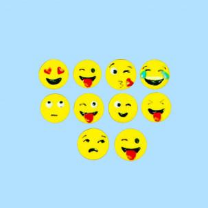 Emojis Cód.412 (Pacote c/ 10 pçs. Medidas 1,5cm x 1,5cm )