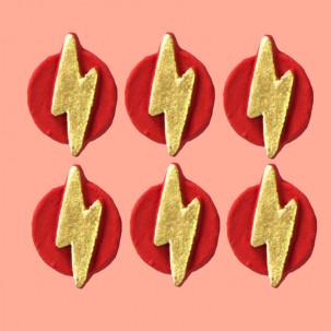 Escudo Flash Cód.402 (Pacote c/ 6 pçs. Medidas 2,5cm x 2cm)