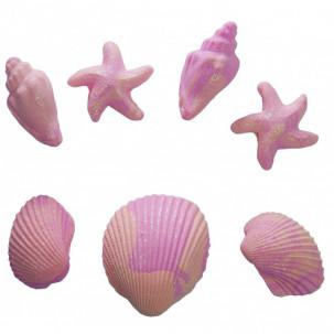 Conchas G Cód.458 (Pacote c/ 7 pçs. Medidas 3,5cm x 2cm)