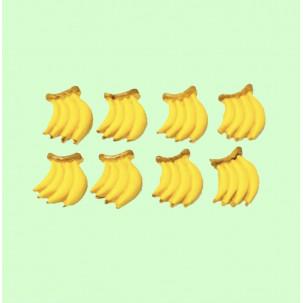 Banana Cód.615 (Pacote c/ 8 Pças. Medidas 1,5cm x 2cm)