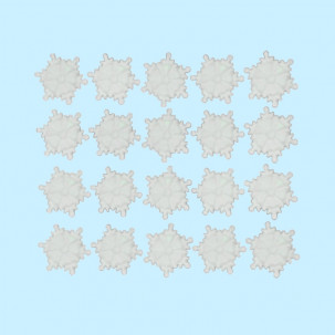 Floco de Neve P Branco Cód.609 (Pact. c/ 20 pçs. Medidas 1,5cm)