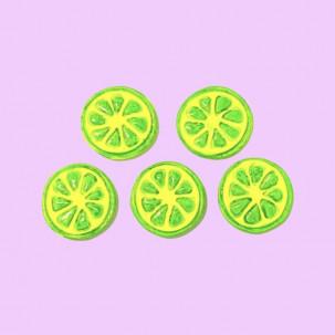 Limão Fatiado Cód.619 (Pacote c/ 5 Pças. Medidas 2cm)