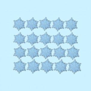 Floco de Neve P Azul Cód.609 (Pact. c/ 20 pçs. Medidas 1,5cm)