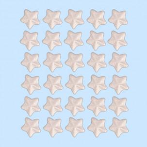 Estrela 3D Clica p/ ver opções de cores Cód.607 (Pacote c/ 30 pçs. Medida 1,2cm)
