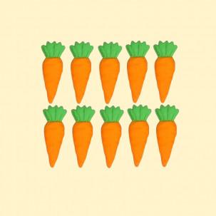 Páscoa - Cenoura p Cód.093 (Pacote c/ 10 pçs. Medidas 1cm x 2cm)