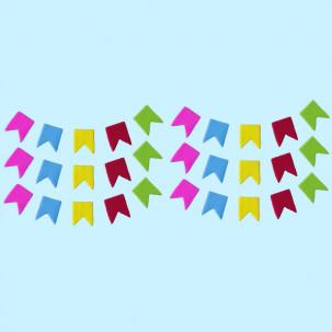 Festa Junina Bandeirola G Cód.310 (Pacote c/ 30 pçs. Medidas 1cm x 1,5cm)