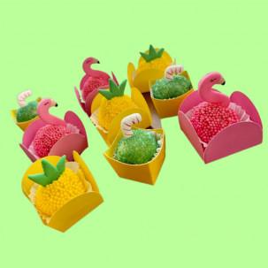 Canudinhos para doce de Côco Cód.604 (Pacote c/ 08 Pçs. Medidas 1,5cm x 2cm)