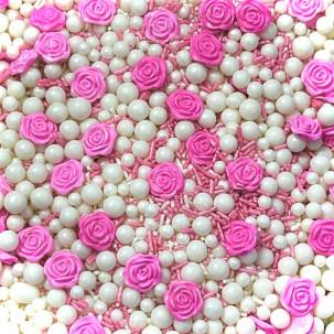 Sprinkles  Flor rosa Cód.540 (Pacote c/ 50g)