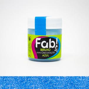 Brilho Para Decoração Azul 3g Fab!
