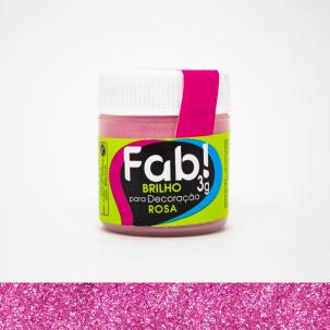 Brilho Para Decoração Rosa 3g Fab!