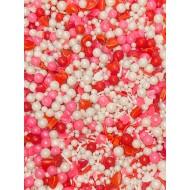 Sprinkles Vermelho, Bco, Rosa Amor Cód.528 (Pacote c/ 50g)