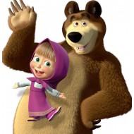 Papel de Arroz Marsha e Urso (MU008 ) TAM.A4