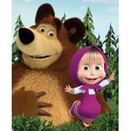 Papel de Arroz Marsha e Urso ( MU009) TAM.A4