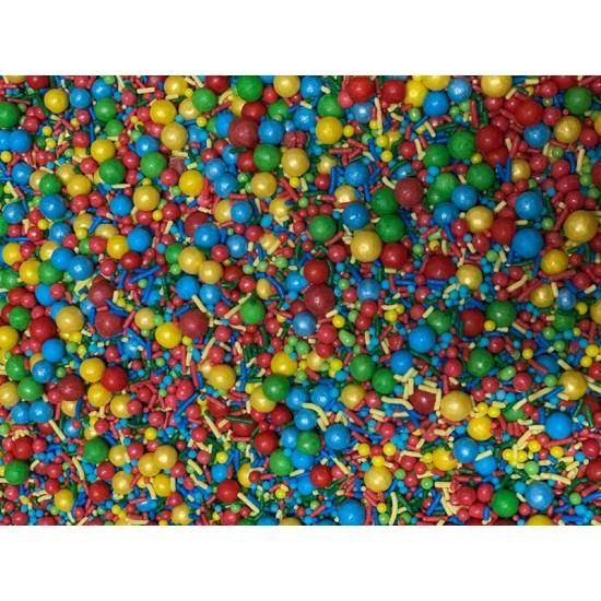 Sprinkles Verm, verde, azul, amar  Cód.520 (Pacote c/ 50g)