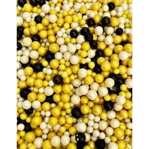 Sprinkles Amar, bco, preto Abelhinha Cód.523 (Pacote c/ 50g)
