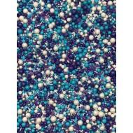 Sprinkles Azul, lilás e bco  Cód.508 (Pacote c/ 50g)
