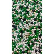 Sprinkles Verde, branco e preto Cód.503 (Pacote c/ 50g)