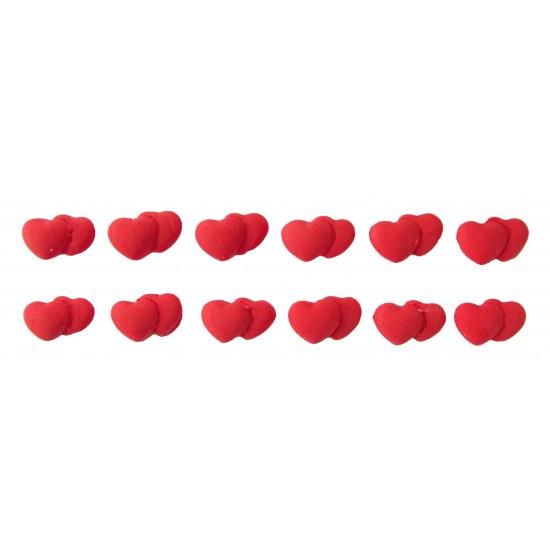 Coração Duplo mini Cód.381 (Pacote c/ 12 pçs)