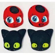 Ladybug e Miraculous Cód.495 (Pacote c/ 4 pçs)