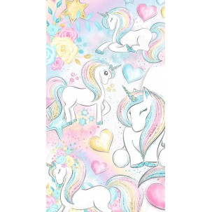 Papel de Arroz  Unicornio  (UN071)  Tam.A4