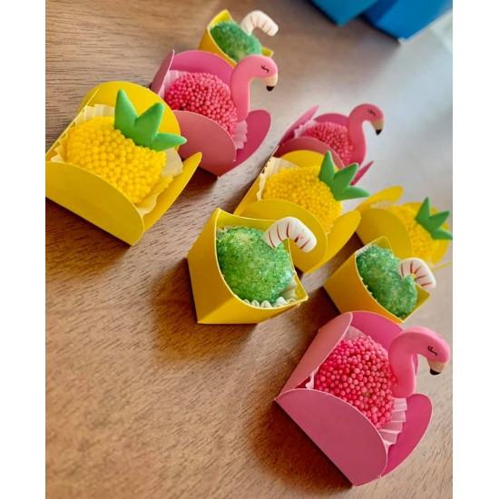Canudinhos para doce de Côco Cód.604 (Pacote c/ 08 Pçs)