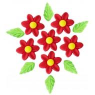 Marg. Pétalas Finas Cód.008  (Pacote c/ 6 flores e 6 folhas)
