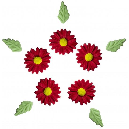 Marg. Mil Pétalas Cód.385  (Pacote c/ 6 flores e 6 folhas)