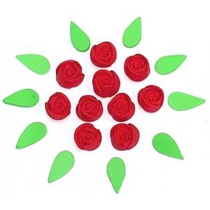 Botão de rosa P Cód.491 (Pacote c/ 20 pçs)