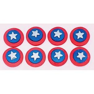 Escudo Cap. América Cód.399 (Pacote c/ 8 pçs)