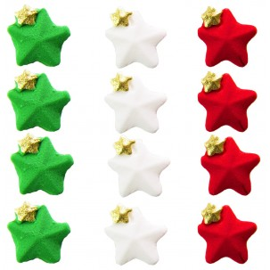 Estrela Dupla Natal Cód.389 (Pacote c/ 12 pçs. Medidas 2cm x 1,5cm)