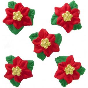 Flor de Natal g  Cód.185 (Pacote c/ 5 pçs)