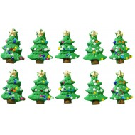 Natal Árvore p Cód.080 (Pacote c/ 10 pçs)