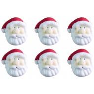 Natal Papai Noel m Cód.136 (Pacote c/ 6 pçs. Medidas 1,5cm x 2cm)