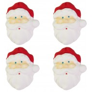 Natal Papai Noel g Cód.084 (Pacote c/ 4 pçs. Medidas 2,5cm x 3cm)