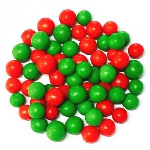 Pérola G Verde c/ Vermelha Cód.305 (Pacote c/ 60gr)