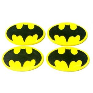 Escudo Batman Cód.401 (Pacote c/ 4 pçs. Medidas 4cm x 2,5cm)