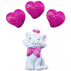 Marrie g Cód.223 (Pacote c/ 1 gata e 3 corações. Medidas 3cm x 4cm)